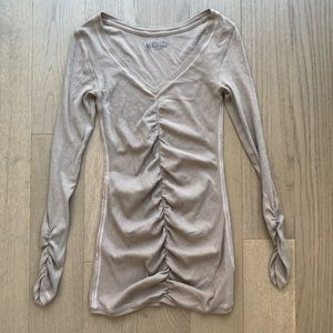 Victoria's Secret Tee Shop Ruched Long Sleeve Top
